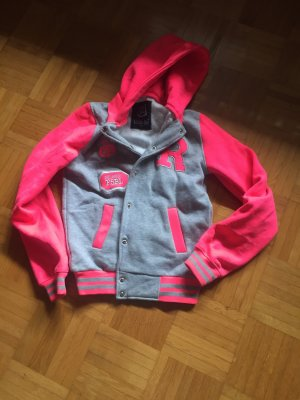 College Jacket neon pink-silver-colored