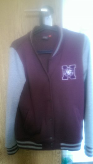 Only College Jacket grey-bordeaux