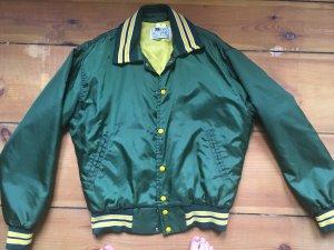 Collegejacke shiny green Retro Vintage Gr M