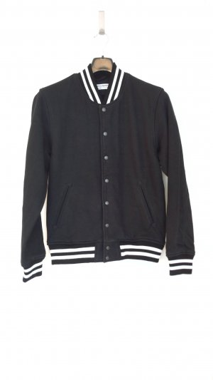 American Apparel College Jacket white-black