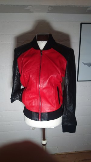 College Jacket multicolored leather