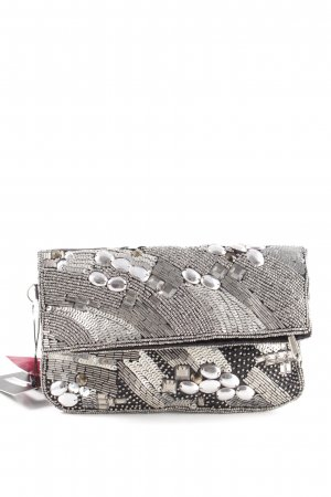 Collezione Alessandro Clutch lichtgrijs-zilver casual uitstraling