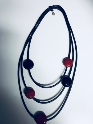 Collier Necklace black-brick red