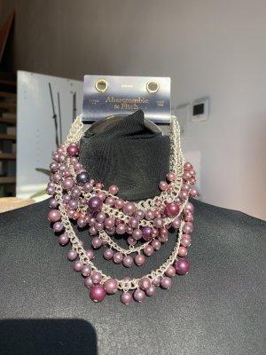 Abercrombie & Fitch Collar estilo collier blanco puro-púrpura