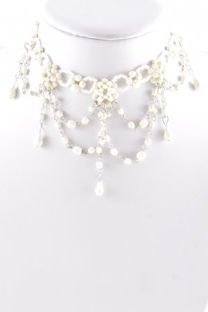 Collier creme-weiß Country-Look