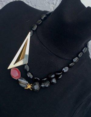 Collier Designer Kette Achat Black Achat