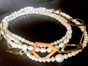 Collier Designer Kette Barock Perlen