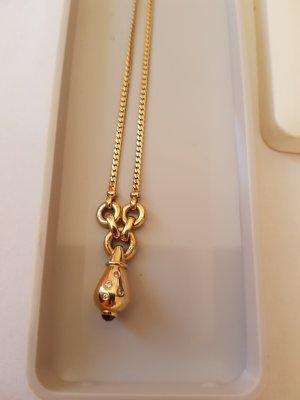 Collier Echt 585 Gold Saphir Brilliant 14 Karat