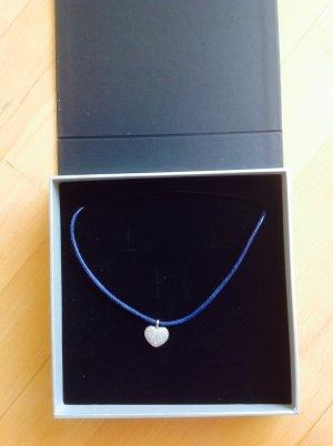 Giorgio Martello Collar estilo collier color plata-azul plata verdadero
