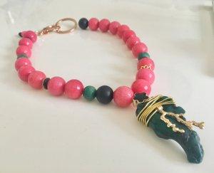 Collier Jade African Türkis Anhänger grüne Koralle