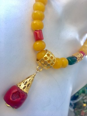 Colliers ras du cou multicolore
