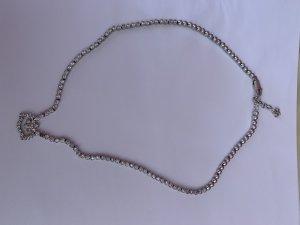 Collier mit Zirkonia und Silber Kugel Silber 925 massiv echt Silber