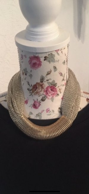 Statement Necklace silver-colored-gold-colored