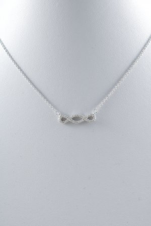 Collier Necklace silver-colored casual look
