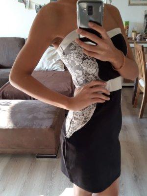 Colloseum Abendkleid Schwarz, Weiß Größe S