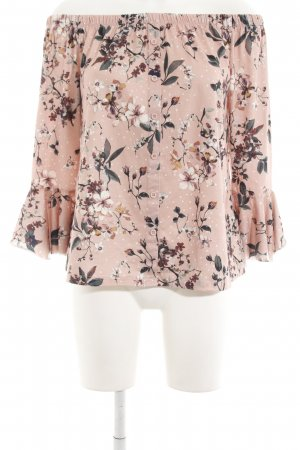 Colloseum Carmen-Bluse apricot florales Muster Casual-Look