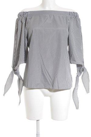 0223ae6ece90 Colloseum Carmen-Bluse weiß-schwarz Karomuster minimalistischer Stil