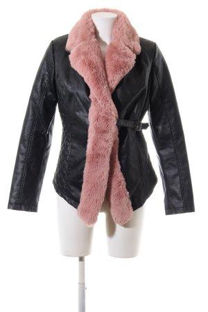 Colloseum Kurzmantel schwarz-pink Steppmuster Casual-Look
