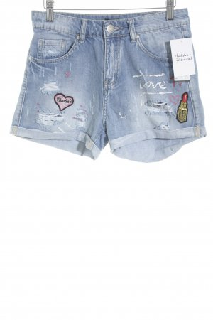 Colloseum Shorts stahlblau Comic-Look