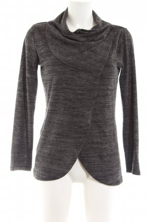Colloseum Knitted Wrap Cardigan light grey-black flecked casual look
