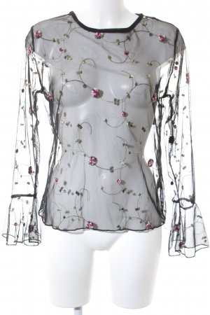 Colloseum Transparenz-Bluse Blumenmuster Romantik-Look