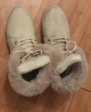 Colloseum Winterschuhe Stiefel Boots Creme beige 41 wie neu mit Fell