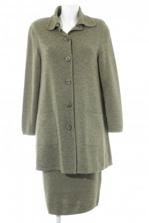 Colombo Knitted Twin Set green grey flecked vintage look