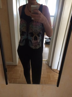 Color skull Tank top
