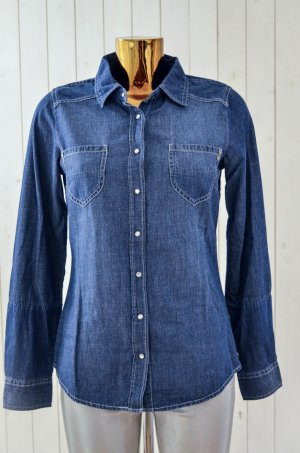 Colorado Denim Damen Jeanshemd Hemd Bluse Denim Blau Druckknopf Gr.S Neu!