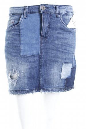Colorado Denim Jeansrock blau Destroy-Optik