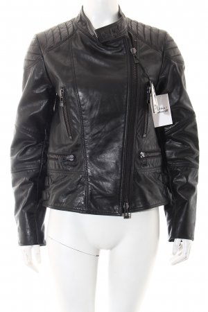Colorado Denim Lederjacke schwarz Biker-Look