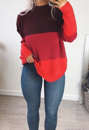 Brave Soul Oversized Sweater multicolored