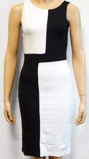 b.p.c. Bonprix Collection Stretch Dress black-white viscose