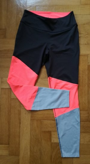 Colorblocking Sporthose / Sporttights / Laufhose