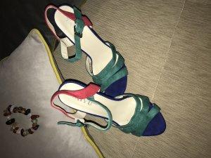 Sandale d'extérieur multicolore cuir