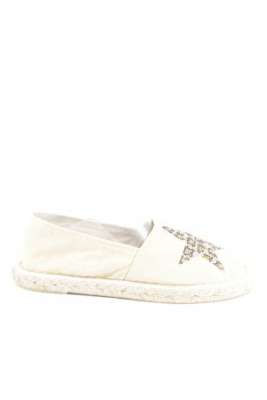 Colors of California Espadrille Sandals white themed print casual look