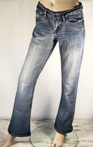 Colours of the World Jeans stretch bleu acier coton