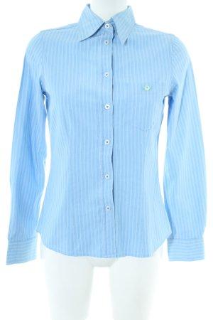Colours of the World Langarmhemd weiß-blau Streifenmuster Business-Look