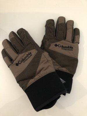 Columbia Gants thermiques marron clair-noir