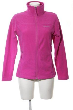 Columbia Fleecejacke pink Schriftzug gestickt sportlicher Stil
