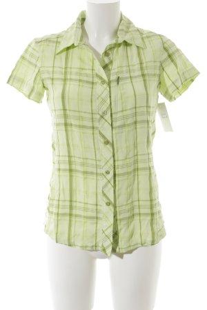 Columbia Kurzarm-Bluse hellgrün-blassgrün Karomuster sportlicher Stil