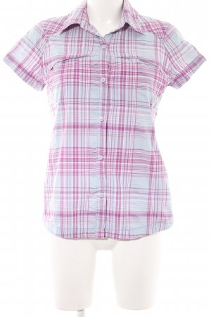 Columbia Kurzarm-Bluse Karomuster Casual-Look