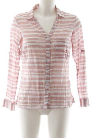 Columbia Langarm-Bluse rosa-weiß Nadelstreifen Casual-Look