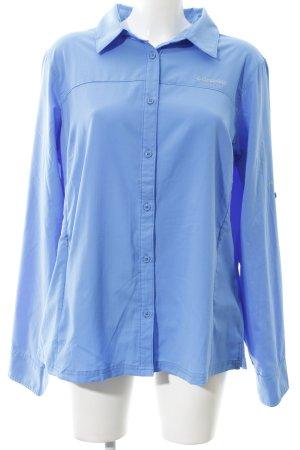 Columbia Langarm-Bluse stahlblau Casual-Look
