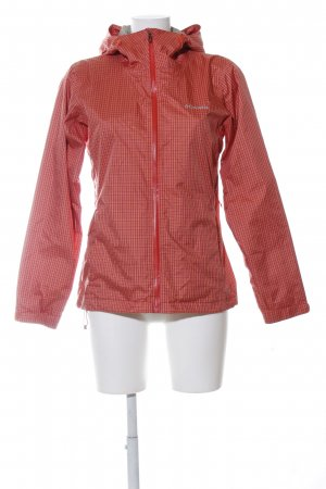 Columbia Raincoat red check pattern street-fashion look