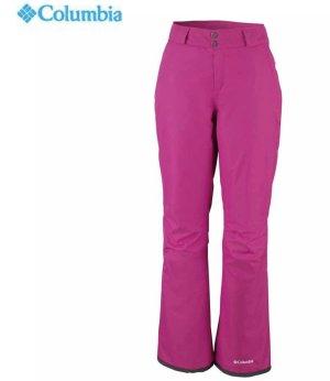Columbia Pantalón de esquí magenta-marrón oscuro