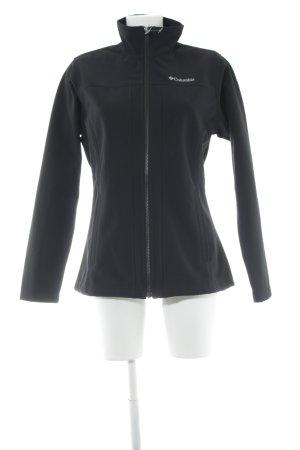 Columbia Chaqueta softshell negro estilo deportivo