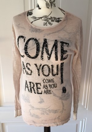 """Come as you are"" edles Longsleeve Shirt aus Leinen von Rich & Royal"