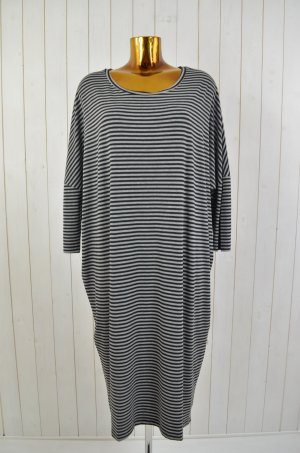 COMFY COPENHAGEN Damen Kleid T-Shirt Kleid Jersey Viskose Elastan Gestreift L/XL