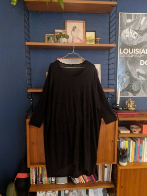 Comfy dark grau dress